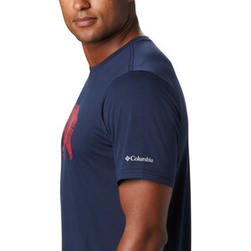 Columbia Terra Vale II T-shirt Homme, collegiate navy grizzly walk